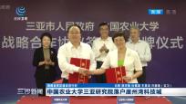 中国农业大学三亚研究院落户亚洲湾科技城