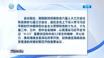 """三沙召开市委常委会传达省""""两会""""精神"""