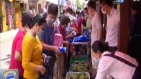 海口:和平南愛心環保屋 垃圾分類換瓜果蔬菜