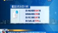疫情發布 截至今天11時 全國新冠肺炎現有確診病例4769例