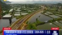 自贸进行时 《海南省国家体育旅游示范区发展规划(2020-2025)》出台
