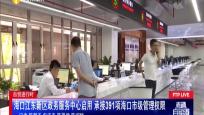 自贸进行时 海口江东新区政务服务中心启用 承接391项海口市级管理权限