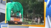 助力高考 为你护航 山东:学校准备敞篷车 送晕车考生上考场