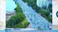 海口市区整体交通秩序平稳 南大桥车流行驶速度缓慢_2