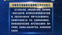 刘赐贵对海南防抗强降雨工作作出批示