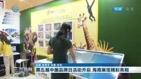 第五届中国品牌日活动开启 海南展馆精彩亮相