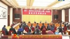 海南代表团举行第一次全体会议 推选刘赐贵为代表团团长 沈晓明许俊为副团长