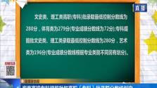 海南高招專科提前批和高職(專科)批錄取分數線劃定
