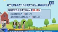 今年第三季度海南农村劳动力外出从业月均收入超3000元