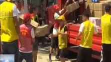 海南志愿援助河南緊急行動第二批愛心物資發出