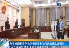樂東舉行掃黑除惡專項斗爭公開宣判活動 集中公開宣判四起惡勢力犯罪案件