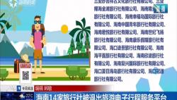 海南14家旅行社被退出旅游電子行程服務平臺