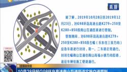 10月28日起G98环岛高速南山互通匝道实施交通管制