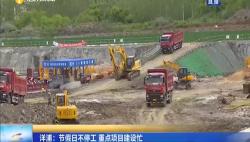 洋浦:节假日不停工 重点项目建设忙