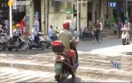 澄邁:老市場路口未設斑馬線 居民橫穿馬路走捷徑
