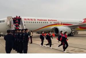欢迎回家!海南援鄂医疗队240名医护人员抵达美兰机场