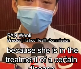 The patient hasn't been vaccinated due to personal health concern