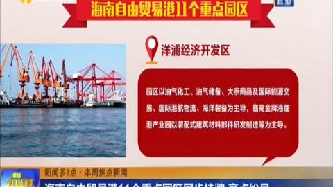海南自由贸易港11个重点园区同步挂牌 亮点纷呈