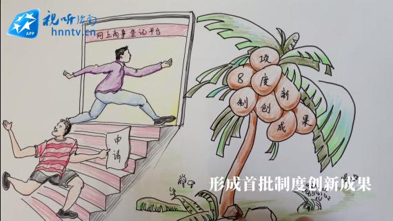 """手绘创意视频丨海南自?#22478;?#24314;设""""蹄疾步稳 开局良好"""""""