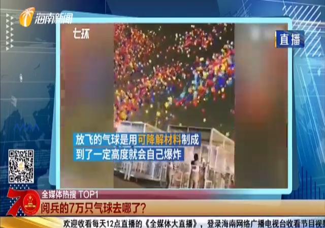 阅兵的7万只气球去哪了?