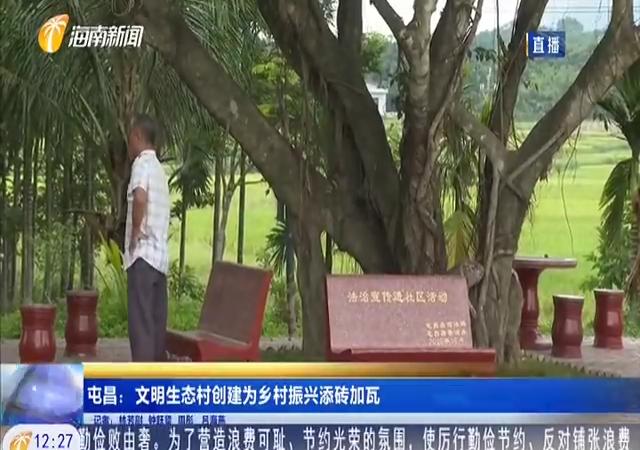 屯昌:文明生态村创建为乡村振兴添砖加瓦
