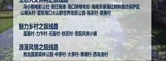 海南10条线路入选全国乡村旅游学习体验线路