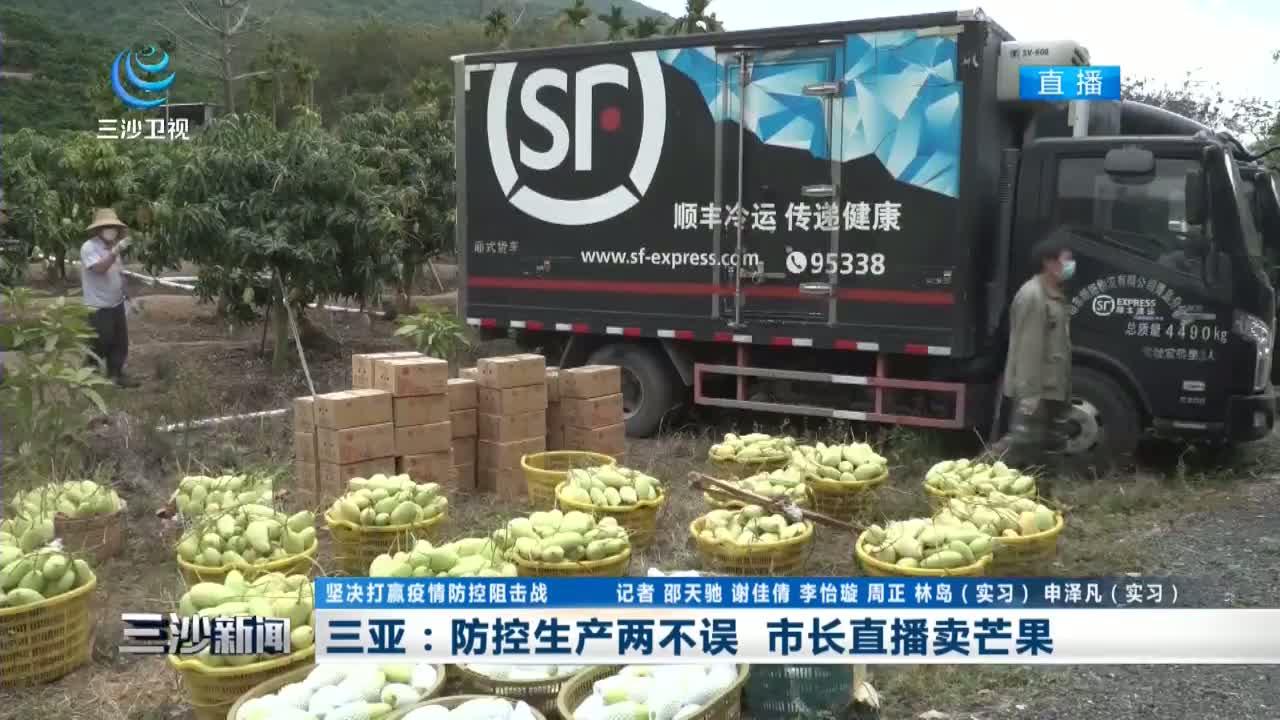 三亚:防控生产两不误 市长直播卖芒果