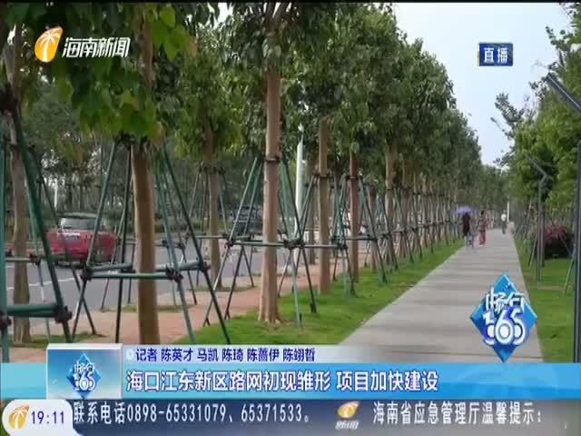 海口江东新区路网初现雏形 项目加快建设