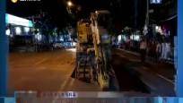"""儋州:路面突然塌陷 平板货车被""""卡"""""""