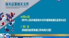 海南潮 海关总署:正研究海南自由贸易港零关税政策相关清单