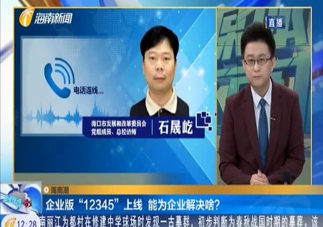 """海南潮 企业版""""12345""""上线 能为企业解决啥?"""