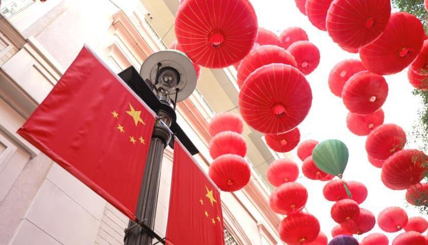 香港:街头的中国红
