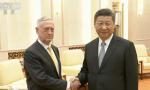 习近平会见美国国防部长