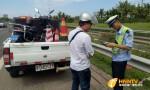 海南交警集中整治行人非機動車等違法上高速行為