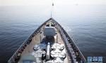 中國海軍西安艦參加俄羅斯海軍節慶典海上閱兵