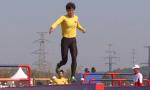 中国选手打破军事五项女子个人全能障碍赛跑世界纪录
