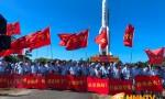 长征五号遥四运载火箭垂直转运至文昌航天发射区