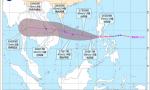 """台风""""莫拉菲""""将移入南海 海南暴雨四级预警"""