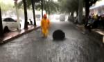 滾動 目前海口市區4條道路積水 其中2條無法通行