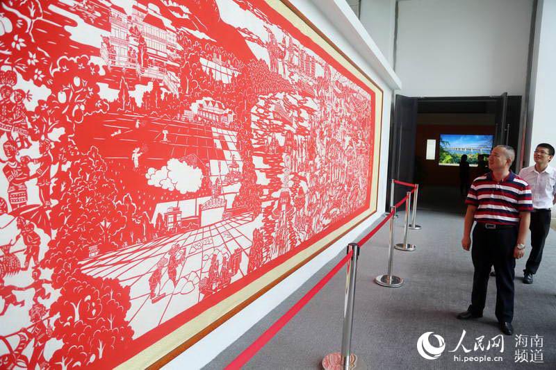 海南建省办经济特区30周年成就展现场