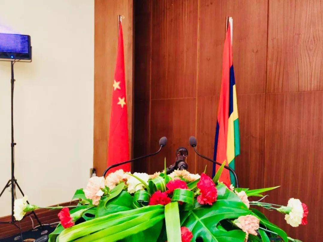 时政新闻眼|毛里求斯:欢迎仪式上奏响了《我的中国心》图片