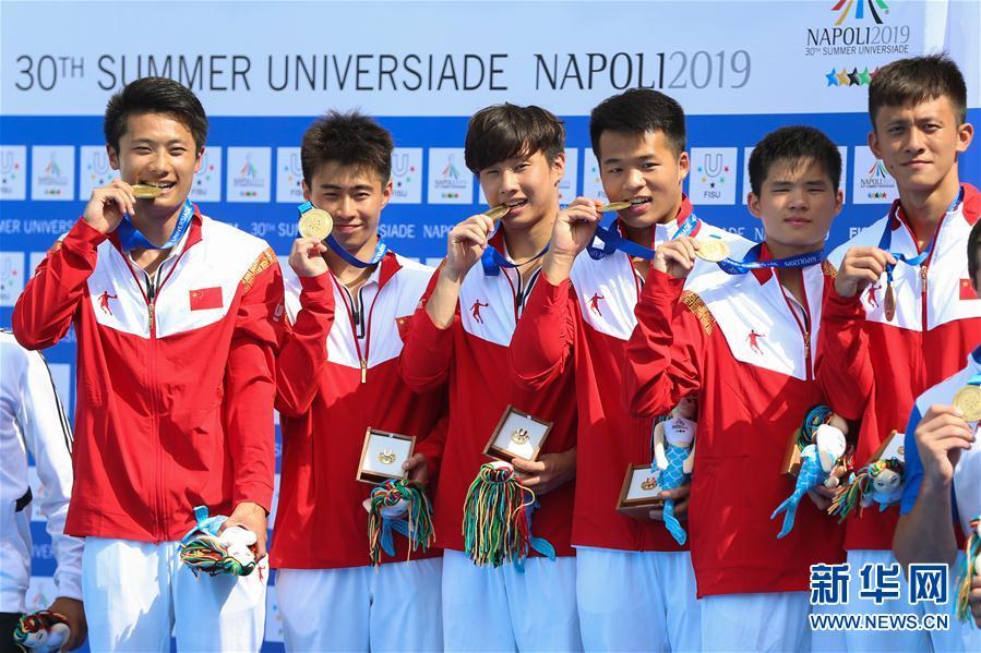 (大运会)(2)跳水——中国队获得男、女团体金牌