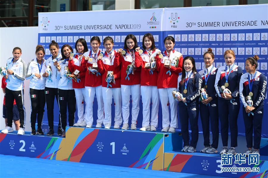 (大运会)(4)跳水——中国队获得男、女团体金牌