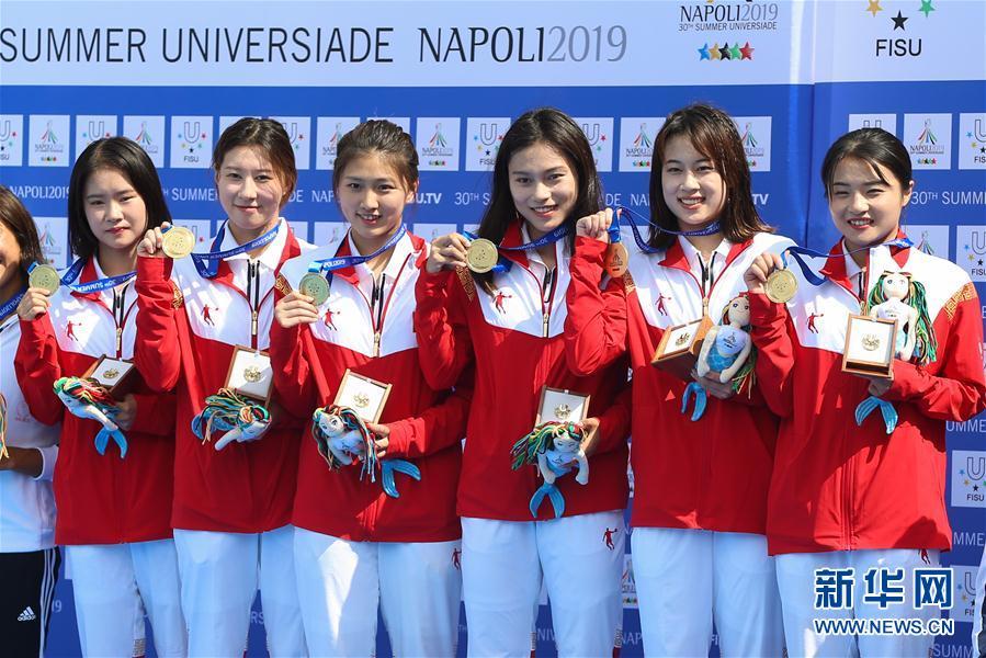 (大运会)(3)跳水——中国队获得男、女团体金牌