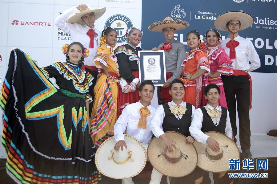 (国际)(1)墨西哥街头乐队表演打破吉尼斯世界纪录