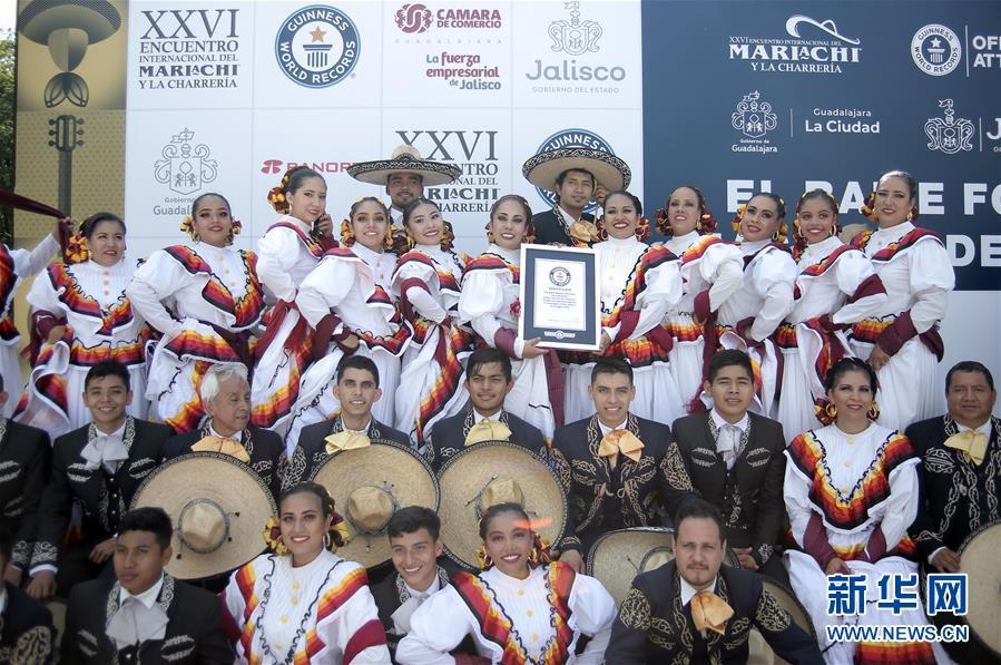 (国际)(2)墨西哥街头乐队表演打破吉尼斯世界纪录