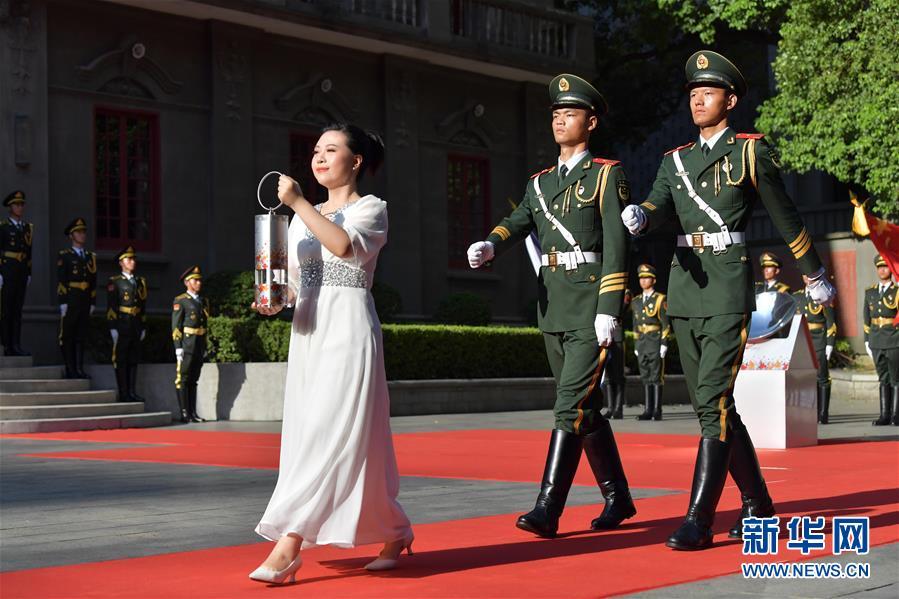 (體育)(7)第七屆世界軍人運動會圣火火種采集和火炬傳遞啟動儀式在南昌舉行
