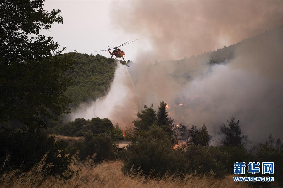 (國際)(1)希臘埃維亞島發生火災