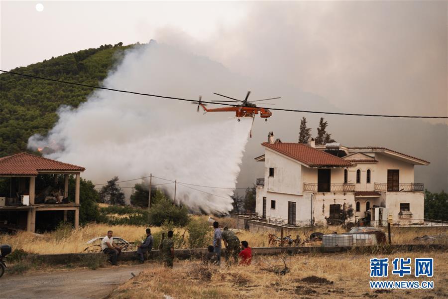 (國際)(4)希臘埃維亞島發生火災