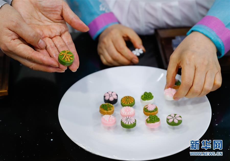 """(国际)(2)""""迎中秋""""世界各地传统糕点系列——韩国松饼和茶食"""